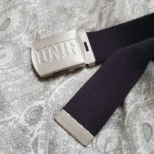 Rare UNIF Slide Belt - Black